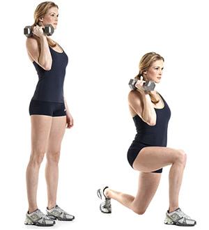 ejercicios para piernas y gluteos con pesas